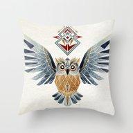 Owl Winter Throw Pillow