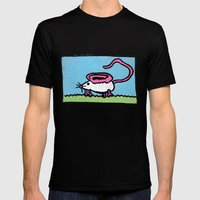 Mousear Mens Fitted Tee Black SMALL