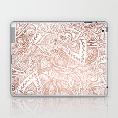 Chic hand drawn rose gold floral mandala pattern Laptop & iPad Skin