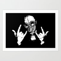 Devil Horns Art Print