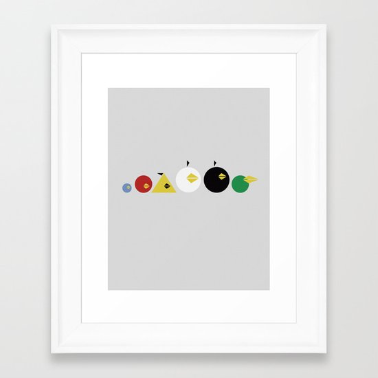 Angry Less Framed Art Print