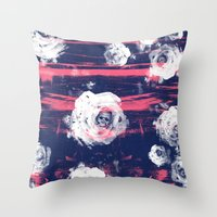 Roses & Skulls Throw Pillow