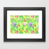 Crayon Love Springtime Framed Art Print