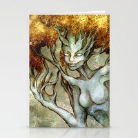 Golden Dryad Stationery Cards