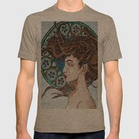 Nouveau - Mixed Glass Mosaic Mens Fitted Tee Tri-Coffee SMALL