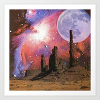 Nebula Desert Collage I Art Print