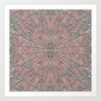 Snowflake Pink Art Print