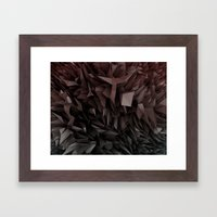 3d polygons displacement Framed Art Print