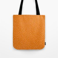 Dots Pink On Orange Tote Bag