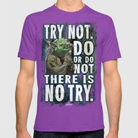 Yoda Jedi Master Giclee … Mens Fitted Tee Ultraviolet SMALL