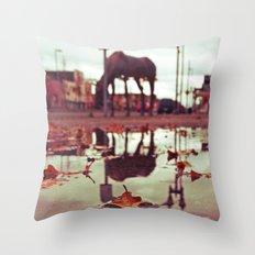 Roadside water Throw Pillow