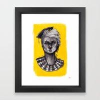 Seen in Yellow Framed Art Print