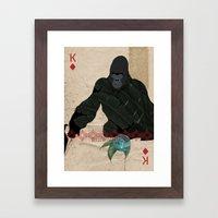 THE KING OF DIAMONDS Framed Art Print