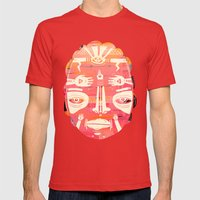 Cloud Face I Mens Fitted Tee Red SMALL