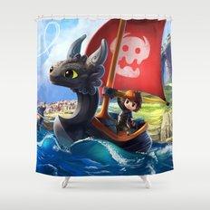 The Dragon Waker Shower Curtain