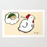 Cucco's Revenge - Zelda Art Print