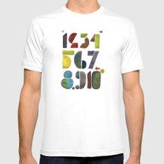 1 2 3 4 5 6 7 8 9 10 decimal numbers - by Genu WORDISIAC™ TYPOGY™ Mens Fitted Tee SMALL White