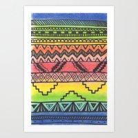 Tribal #3 Art Print