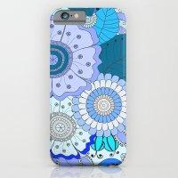 Blue Summer Boho Floral Pattern iPhone 6 Slim Case