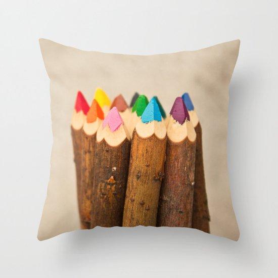 Color Me Free I Throw Pillow