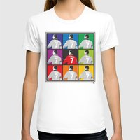 Eric Cantona Womens Fitted Tee White SMALL