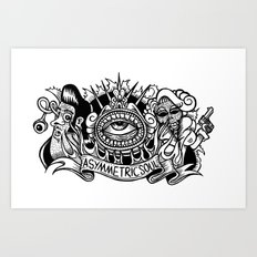 zombie rock Art Print