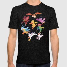 Digimon Mens Fitted Tee Tri-Black SMALL