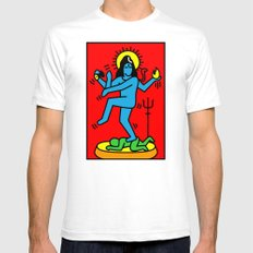 Shiva Keith Haring Tribute Mens Fitted Tee White SMALL