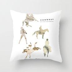Cowboys of the Caribbean Throw Pillow