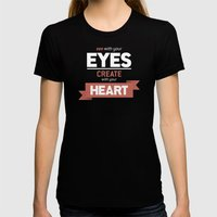 ...Create With Your Heart Womens Fitted Tee Black SMALL