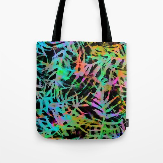 Electric Palms - Black Tote Bag