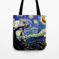 Starry Night Versus The … Tote Bag