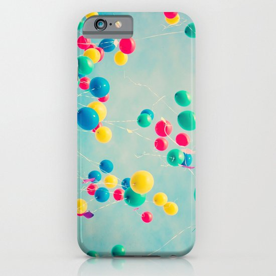 Polka Dots (Colorful happy balloons in flight) iPhone & iPod Case
