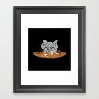 Trying To Forget Framed Art Print