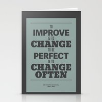'To Improve Is To Change… Stationery Cards