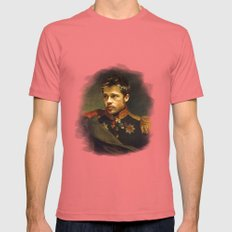 Brad Pitt - Replaceface Mens Fitted Tee Pomegranate SMALL