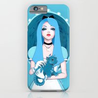 iPhone Cases featuring Alice Wore Blue by Leilani Joy