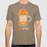 Hot COCOA Coco Mens Fitted Tee Tri-Coffee SMALL