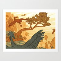 Journey To The Edge Of T… Art Print