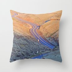Long and Winding Throw Pillow