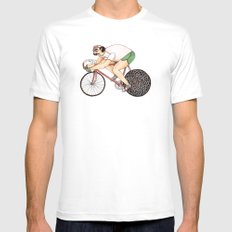 Stella White Mens Fitted Tee SMALL