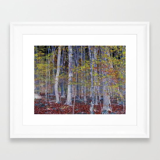 You Hiked while I Stood Still Framed Art Print
