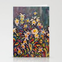 Mom's White Daisies Stationery Cards