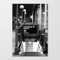 Christopher St. Station. West Village. New York, NY. 2014. Canvas Print