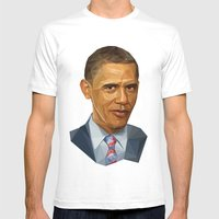 Obama 2012 Mens Fitted Tee White SMALL