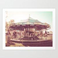 Merry-Go-Round and Round Art Print