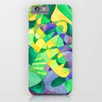 iPhone & iPod Case featuring Green Doodle by Libby Brown
