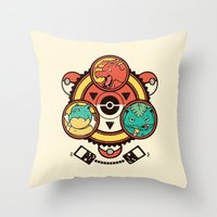 Pocket Monster Trainer Throw Pillow