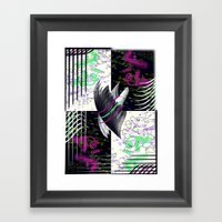 Crows And Eagles Framed Art Print