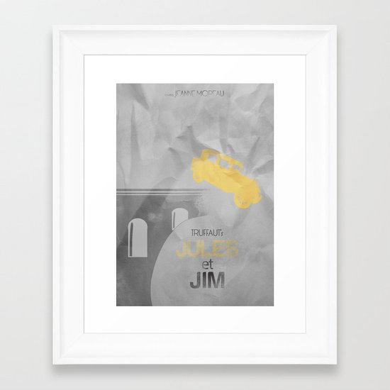 JULES et JIM Alternative Movie Poster Framed Art Print